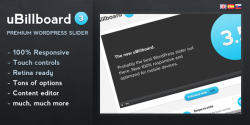 Ubillboard jQuery premium wordpress slider