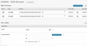 DDslider wordpress slide manager