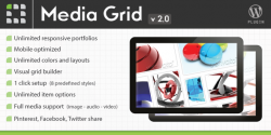 Media grid responsive wordpress