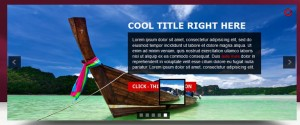 slide with captions and thumbnails
