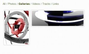 Applied gallery category filters
