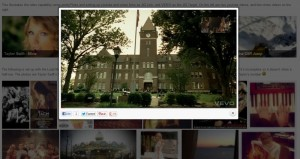 embed video in responsive gallery